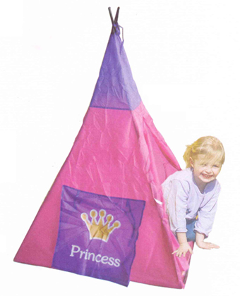 Princess Teepee Kids Indian Tripod Tent Girls Pink Play House