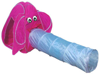 2pc Elephant Play Tent Child Kids Dome Igloo & Tunnel tube Playtent