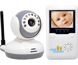 4CH Wireless Night Vision 2-Way talk LCD Baby Monitor