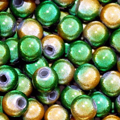 Miracle Beads: Two Toned Yellow and Green (4mm)