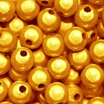 Miracle Beads: Bright Yellow Gold (6mm)