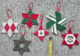 Paper Pieces Templates and Pattern for Six Star Christmas Ornaments