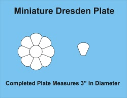 Miniature Dresden Plate Paper Pieces Template