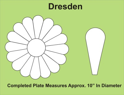 English Paper PiecingTemplates - Dresden Plate (For Single Block)