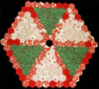 Pattern and Template Kit for English Paper Pieced Christmas Tree Skirt