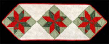 English Paper Piecing Table Runner Template and Pattern Kit