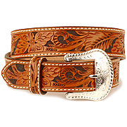 Nocona Floral Tooled Belt