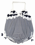 Kate Mack *Seaside Petals* - Precious Navy Baby Swim Bubble Sizes 9m Left Only