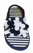 Kate Mack *Seaside Petals* - Navy Flowerette Toddler Sandals