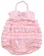 Kate Mack *Dipped in Ruffels* Infant Romper-Sizes 3m to 9m