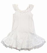 "Kate Mack ""Dipped in Ruffles"" White Beach Portrait Dress- 5 left only"