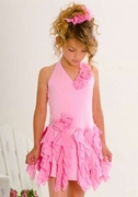 Kate Mack  *Summer Petals* Girls Pink Halter Dress - SOLDOUT