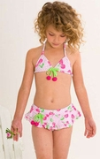 Kate Mack -*Cherry Picked* Skirted Two Piece Swimsuit - 4 to 6x
