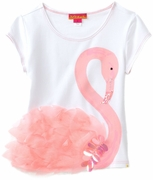 Kate Mack *Flamingo Fun* Summer Shirt- Sizes 4 to 10