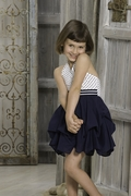 Kate Mack*French Riviera* Navy Summer Dress Sizes 4 to 12