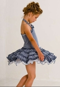 Kate Mack - * Picnic Sail* Ruffles Twirly Halter Sun Dress - Sizes-5-6-  6x Left Only!