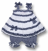 Kate Mack *Picnic Sail* Ruffeld Top and Bloomer Set - 3m to 18m