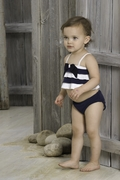 Kate Mack *French Rivera*   Ruffel 2 Pc Tankini- Sizes  24m 2t- left only!