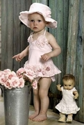 Kate Mack 'Vintage Rose' Swimsuit 3m-24m