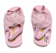 Kate Mack Girls Light Pink Vintage Roses Beach / Pool Sandals with Straps