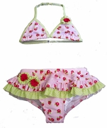 Kate Mack 'Dottie Rose' Bikini -Sizes 4T - 4-5-6