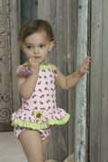 Kate Mack 'Dottie Rose' Swimsuit -Sizes 3m-6m-9m-18m-&4t Left Only!
