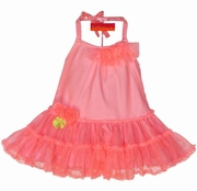 "Kate Mack ""Aloha Rose"" Coral Twirling Dress-Sizes 9m 12m 24m-Left Only!"