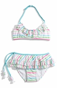 "Kate-Mack- ""Salt Water Taffy"" Skirted 2PC Swimsuit- Sizes 2-6-6x-8-Left Only!"