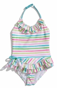 "Kate-Mack-""Salt Water Taffy"" Skirted 1PC Swimsuit - 12M Left Only!"