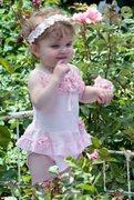 "Kate Mack ""Pixie Petals"" Precious Two Piece Bathing Suit  Size 3m & 6m Left Only!"