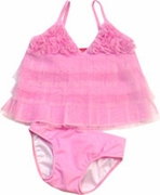 Kate Mack *Pink Paradise*  Tankini One Piece Swimsuit 18m-2t