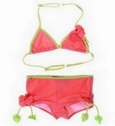 Kate Mack *COPACABANA* Coral Solid Boy Cut - Size 5 & 8 Left Only!