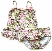 Kate Mack *Leopard and Roses* Tankini Swim Suit- Sizes 12M to 3T