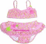 Kate Mack *Field Of Flowers* Amazing Pink Floral Baby Bikini - soldout