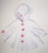 Kate Mack- white rose terry cloth cover up -Sizes 9m to 12m