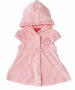 "Kate-MackPixie Petals"" Short Sleeve Pink Hooded Coverup - Sizes 12m & 24m & 2T Left Only!"