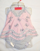 "Kate Mack ""Bow Peep"" Pink Swing Top 2 Piece BathingSuit - Sold Out!"
