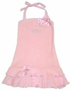 Kate Mack *Delicate Blossoms* Beautiful Pink Terrycloth Halter Dress- SOLD OUT!