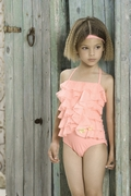 Kate Mack 'Aloha Rose' ruffle one piece- SOLD OUT!