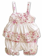 Biscotti Baby-* Eyelet Rose*  2PC Top & Bloomer-SOLD-OUT!