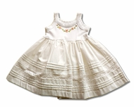 Victoria Kids-Sweet white dress- Size 0m- 2yrs