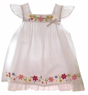 Little Me- White Multi Dress- 2PC- Size 3m -18m