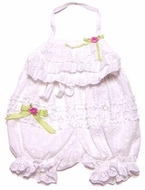 Kate Mack Girls Sweet White Eyelet Halter Bloomer Set (SOLD-OUT)
