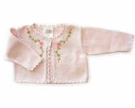 Victoria Kid's- Pink Sweater/Shrug, Size NB- 2Yrs