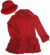 Kate Mack Coat *Polar Fleece Rose* Sizes 2T to 6X