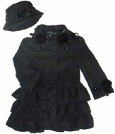 Kate Mack *Polar Fleece Ruffled-Bottom Coat* Sizes 3T and 6X