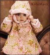 Kate Mack Coat  *Leopard and Roses* Sizes 9M to 4