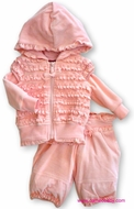 Kate Mack *Rose Tapestry* Pink Hoodie & Pant- Only a size 9M left!