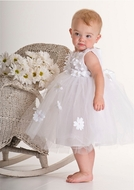 Biscotti *Crazy For Daisies* - Wedding White Ballerina Dress Sizes 3m - 2T
