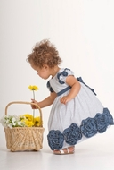 Biscotti Dress *Ship Shape* - Baby Dot Dress